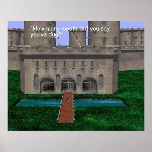 Construcción - piscinas - cavador de la fosa poster
