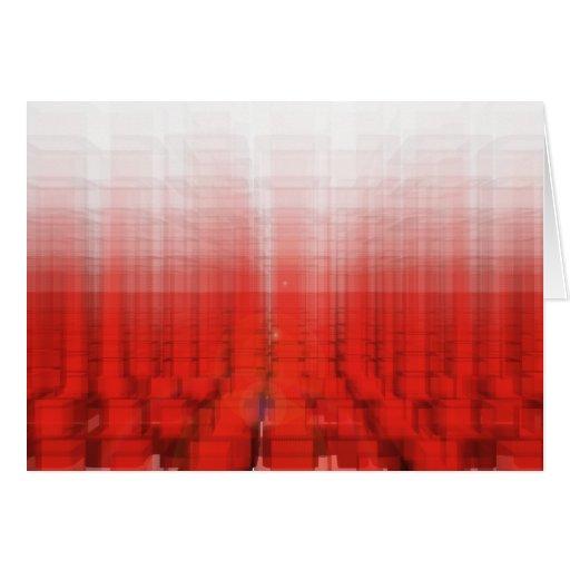 Construcción roja abstracta: felicitación
