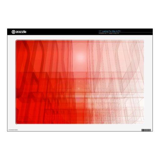 Construcción roja abstracta: portátil calcomanía