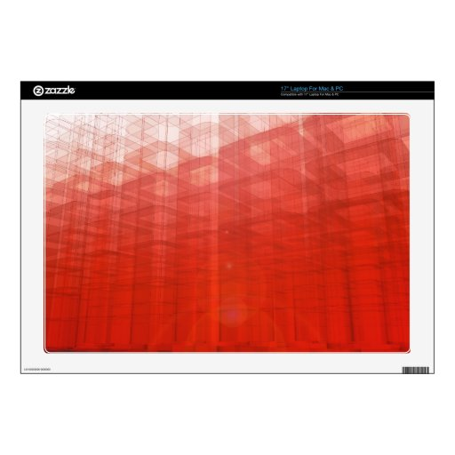 Construcción roja abstracta: skins para portátiles