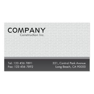 Construcción - tarjetas de visita