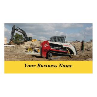 Construcción y contratista tarjetas de visita