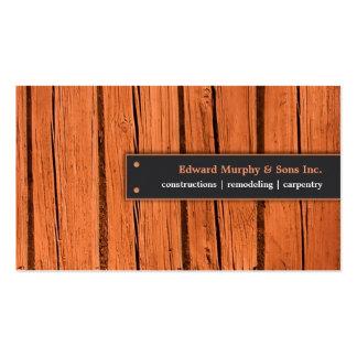 Construcciones/tarjeta de visita de la carpintería tarjetas de visita