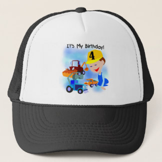 Construction 4th Birthday T-shirts and Gifts Trucker Hat
