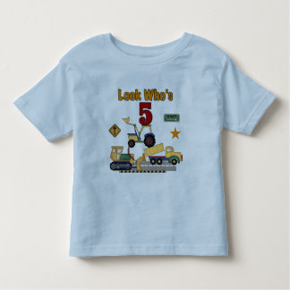 Construction 5th Birthday Tshirts and Gifts