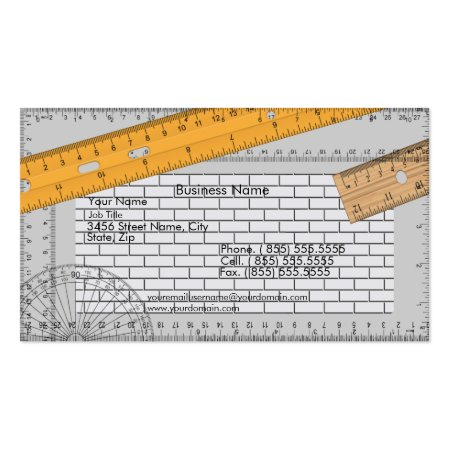 Cool Tape Measure Brick Wall Architect Profile Cards