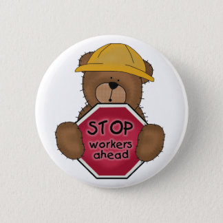 Construction Bear T-shirts and Gifts Pinback Button