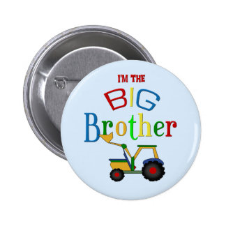 Construction Big Brother Gifts 2 Inch Round Button