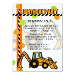 Construction Birthday 5.5x7.5 Paper Invitation Card