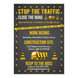 construction birthday invitations & announcements | zazzle, Birthday invitations
