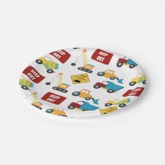 Construction Birthday Paper Plate