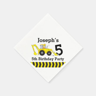 Construction birthday party kids paper napkins