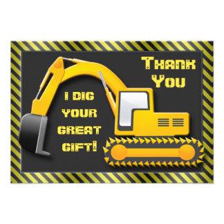 Construction Birthday Party Thank You Invites