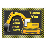 Construction Birthday Party Thank You Invites