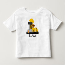 Construction Birthday Shirt, Dump Truck Age 1 Toddler T-shirt
