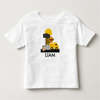 Construction Birthday Shirt, Dump Truck Age 1 Toddler T-shirt