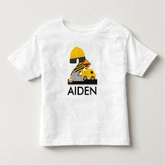 Construction Birthday Shirt, Dump Truck Age 2 Toddler T-shirt at Zazzle