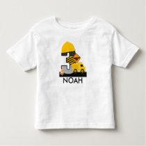 Construction Birthday Shirt, Dump Truck Age 3 Toddler T-shirt