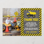 """Construction Birthday Thank You Card with Photo<br><div class=""""desc"""">Construction Birthday Thank You Card with Photo ● Image by Rufflesandtiesms.etsy.com ● &#169; Puggy Prints. All rights reserved.</div>"""
