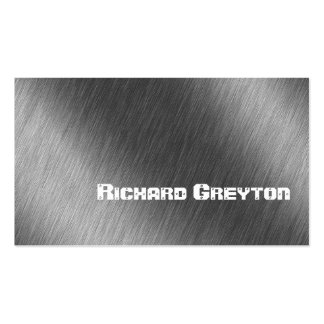 Construction black grey metal custom Double-Sided standard business cards (Pack of 100)