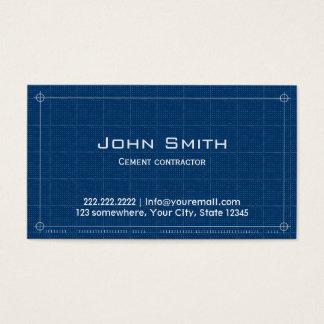Construction Blueprint Cement Contractor Business Card