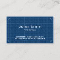 Construction Blueprint Civil Engineer Business Card