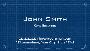construction blueprint civil engineer business card - Engineer Business Card