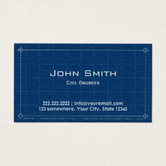 Construction Blueprint Civil Engineer Business Card