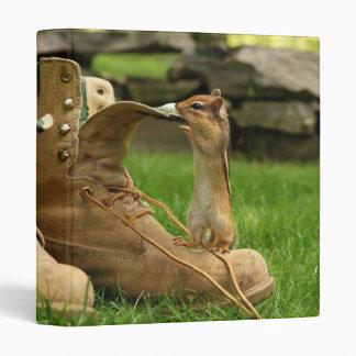 """Construction Boot Baby Chipmunk 1"""" Photo Album Binder"""