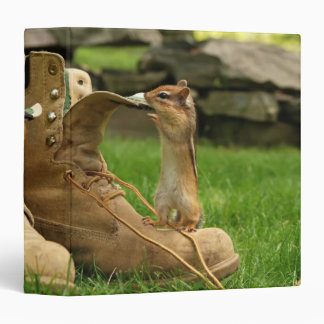 "Construction Boot Chipmunk 1.5 "" Photo Album 3 Ring Binder"