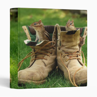 "Construction Boot Chipmunks 1"" Photo Album 3 Ring Binder"