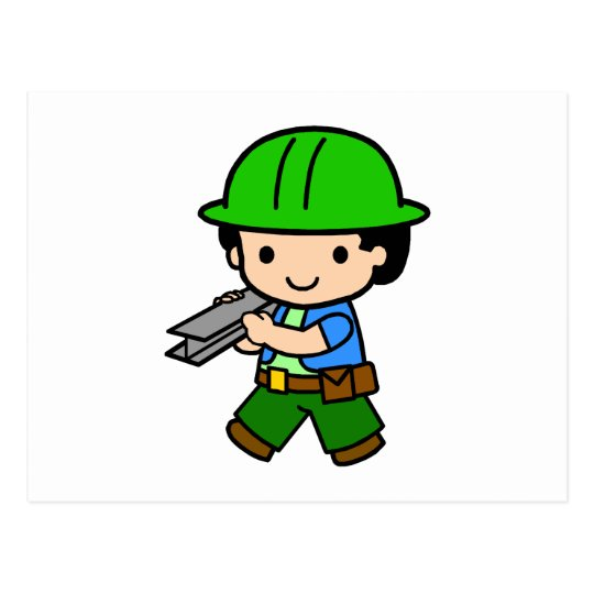 Construction Boy 1 Postcard
