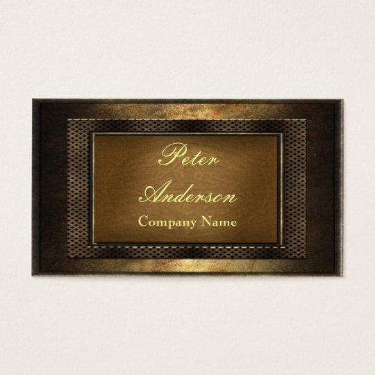 Construction Bronze Metal Frame Business Card