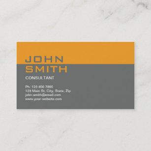 construction builder contractor mechanic plain business card - Contractor Business Cards
