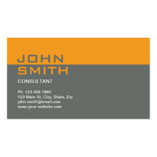 Construction Builder Contractor Mechanic Plain Double-Sided Standard Business Cards (Pack Of 100)