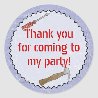 Construction/Builder Party Customizable Sticker