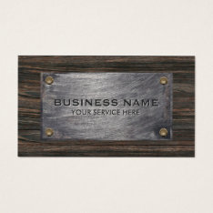Construction Builder Wood & Metal Professional Business Card at Zazzle