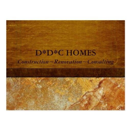 Construction Builders Advertising Postcards