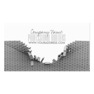 Construction Builders Grey Bricks Business Card