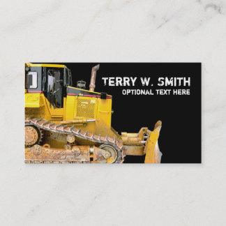 Construction Bulldozer Business Card