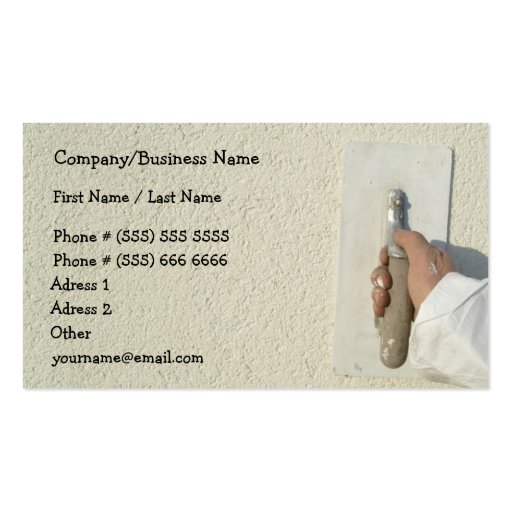 Plastering business card templates bizcardstudio plastering construction business card flashek Choice Image