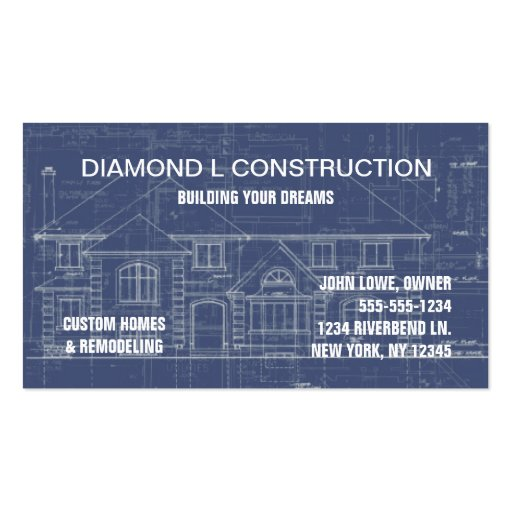 Construction business card zazzle for Construction business card templates