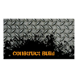 Construction Business Card Splash Metal Transport