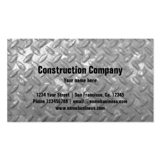 Construction business card template | Steel plate