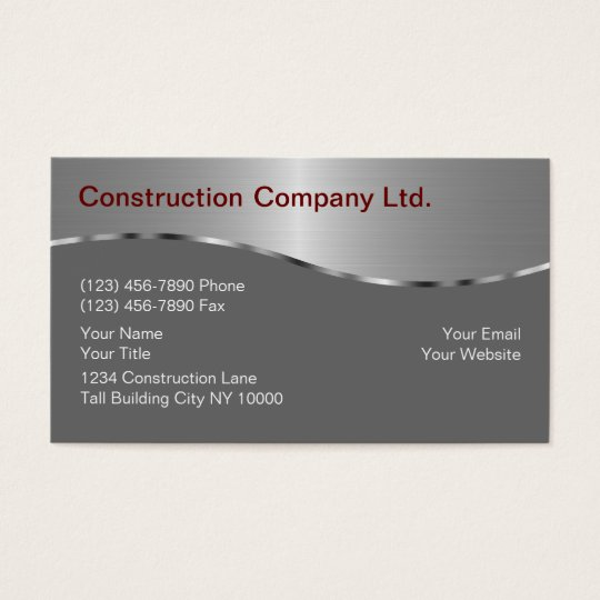 Construction business cards zazzle construction business cards colourmoves