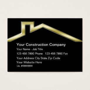 Roofing business cards templates zazzle construction business cards reheart Image collections