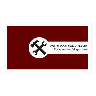 Construction business cards-deep red Double-Sided standard business cards (Pack of 100)