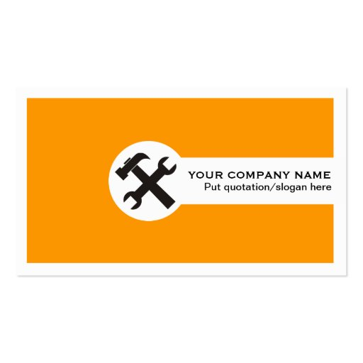 Construction business card templates page23 bizcardstudio construction business cards orange colourmoves Images