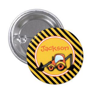 Construction Button, Digger Button, Party Favor Pinback Button