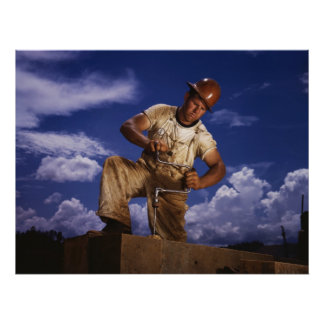 Construction Carpenter, 1942 Poster